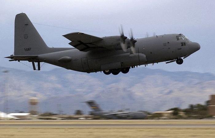 Angkatan Udara Amerika Serikat (AS) mengirim pesawat L'EC-130H Compass Call ke Korea Selatan. Foto: USAF