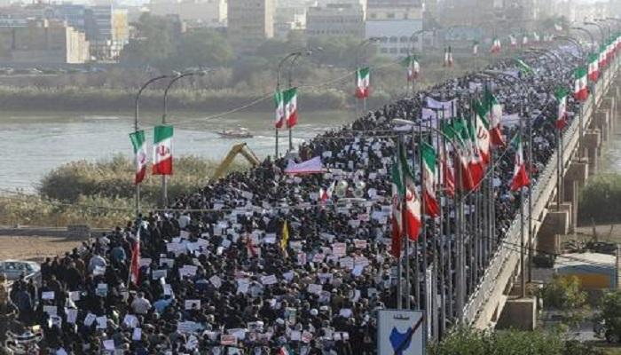 Aksi demonstrasi besar-besaran di Iran yang anti-pemerintah dan dinilai sengaja dimobilisir pihak asing. Foto: REUTERS