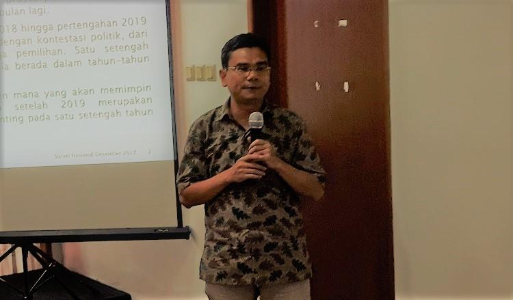 Direktur Eksekutif Saiful Mujani Research and Consulting, Djayadi Hanan (Foto: Ucok A/Nusantaranews)