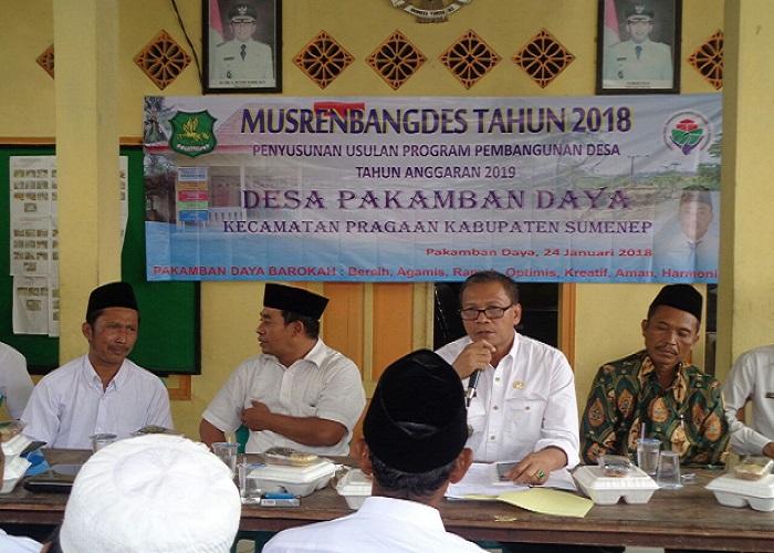 usyawarah Desa, Desa Pakamban Daya Kecamatan Pragaan Kabupaten Sumenep