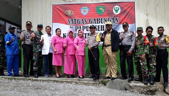 Polres Tolikara, TNI dan Tenaga Medis bentuk Satgas Gabungan Papua Sehat. Foto: Kasrim/NusantaraNews