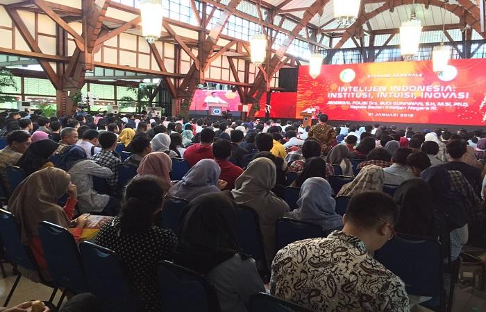 Suasana Gedung Aula Timur Kampus Ganesha ITB pada hari Rabu (31/1/18) dimulainya kerja sama secara formal antara Badan Intelijen Negara (BIN) dan Institut Teknologi Bandung (ITB). Foto: Dok. Istimewa/NusantaraNews