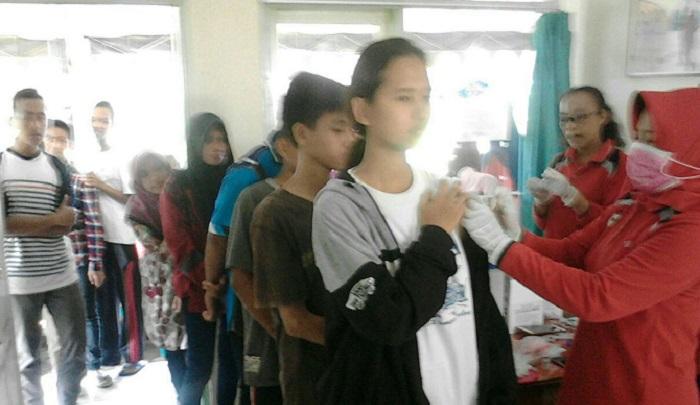 Imunisasi Difteri di Tulungagung. Foto: Dok. Md 0807/ NusantaraNews