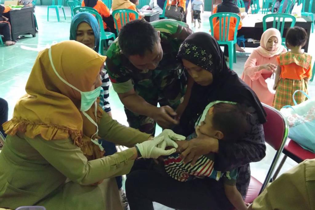 Outbreak Respons Immunization(ORI), atau imunisasi massal difteri efektif menurunkan jumlah penderita difteri di Kab. Tulungagung. Foto: Istimewa