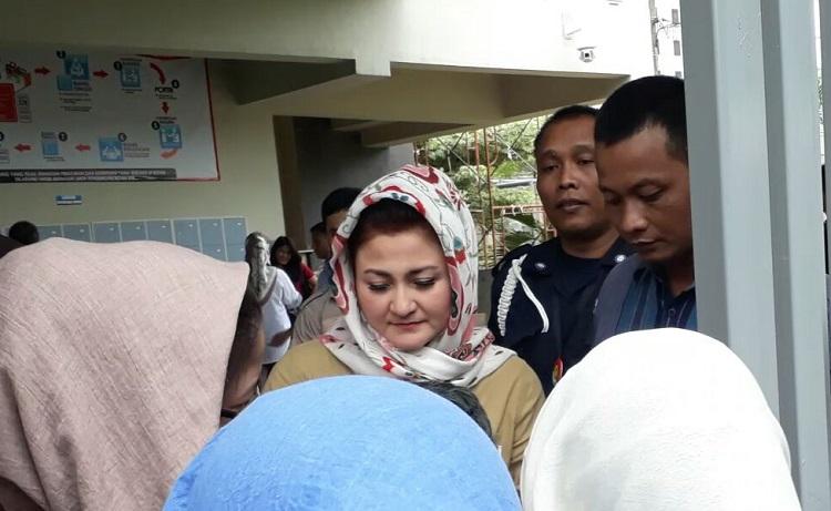 Istri Setya Novanto, Deisty Astriani Tagor (Foto: Restu Fadilah/Nusantaranews)