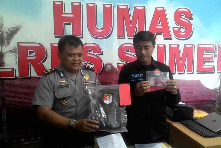 Jajaran Satreskrim Polres Sumenep, Madura, Jawa Timur, saat ungkap kasus tindak pencurian dengan kekerasan (Foto Mahdi/Nusantaranews)