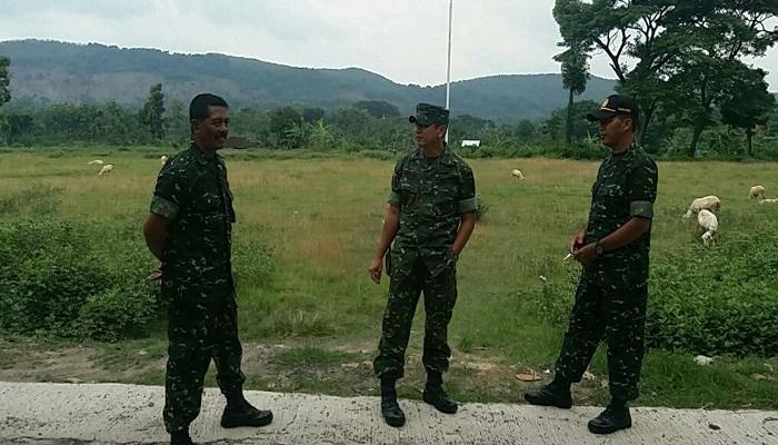 Kepala Staf Kodim 0810 Nganjuk Mayor Inf Edy Sunarko mengunjungi lokasi TMMD tahun 2018. Foto: Dok. Istimewa