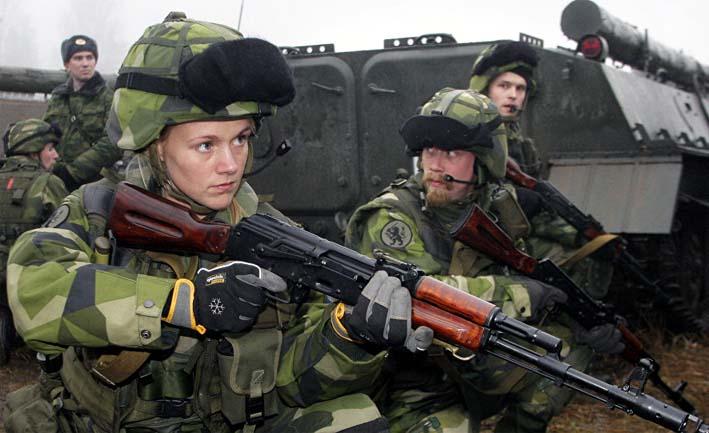 Pasukan militer Swedia/Foto: sputnik