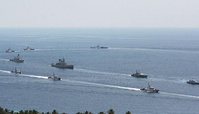 Armada kapal perang Angkatan Laut Indonesia (TNI AL) saat melakukan patroli di Laut Natuna