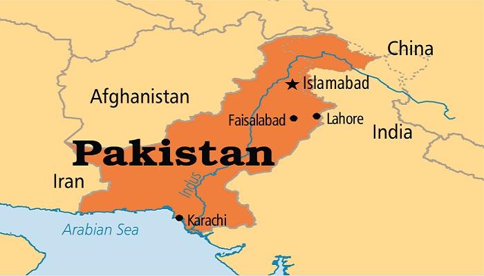 Peta Pakistan dan perbatasannnya dengan Afghanistan. Foto: Nelma.org
