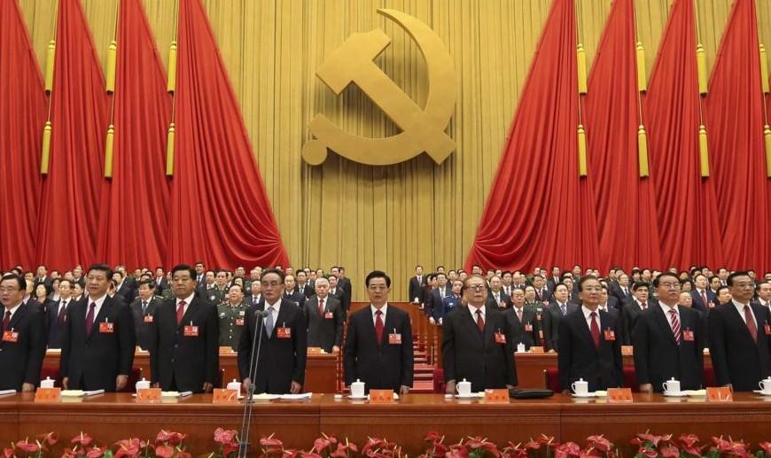 Presiden China Xi Jinping bersama jajaran pengurus partai Komunis (Foto via telegrafi)
