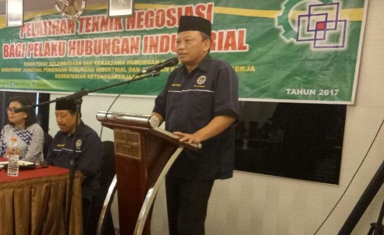 Presiden K-Sarbumusi, Syaiful Bahri Anshori (Foto Ucok A/Nusantaranews)