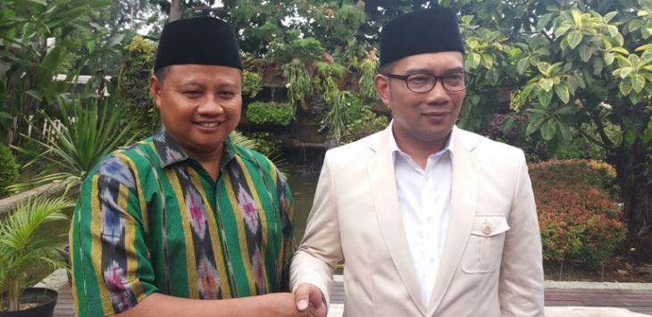 Ridwan Kamil dan Uu Ruzhanul (Foto Dok. Pojoksatu)