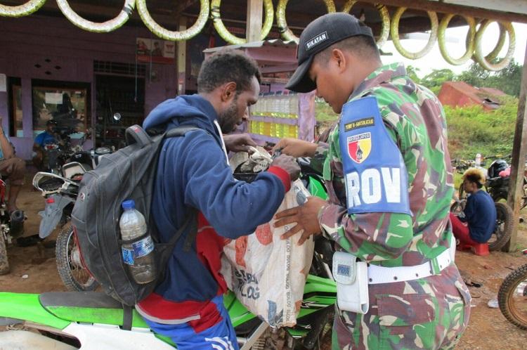 Sweeping miras di perbatasan Indonesia-Papua Nugini (Foto Istimewa/Nusantaranews)