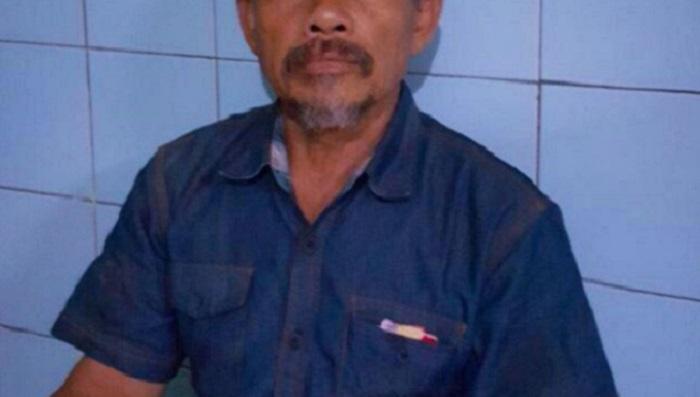 A (55) sang Pelaku penganiayaan terhadap pimpinan Pondok Pesantren Al-Hidayah Cicalengka Bandung, KH Umar Basri. Foto: Dok. Tribun