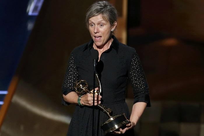 Frances McDormand menjadi aktris terbaik untuk film drama di malam penghargaan Golden Globe. Foto: Dok. Canoe