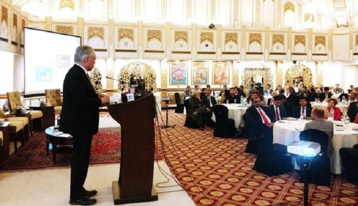 Menteri Perdagangan Enggartiasto Lukita di Forum Bisnis Indonesia-Pakistan, Jumat (26/1/2018). Foto: Humas Kemendag