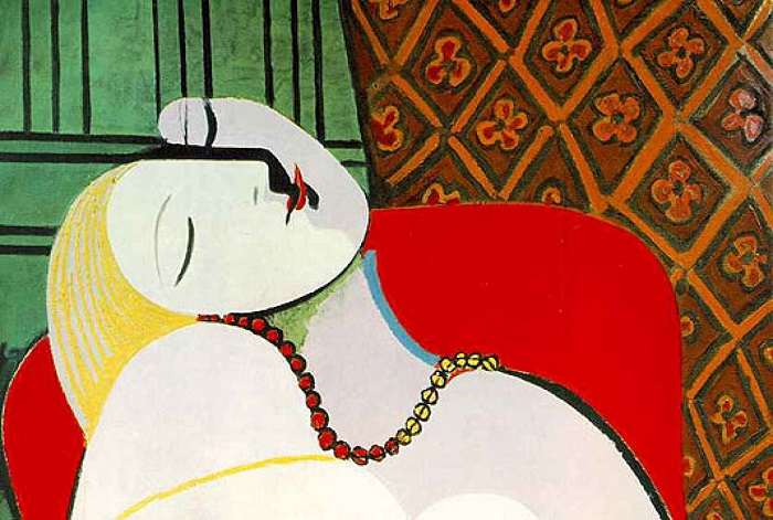 Le Reve karya Pablo Picasso. Foto: Dok. posmodernismo