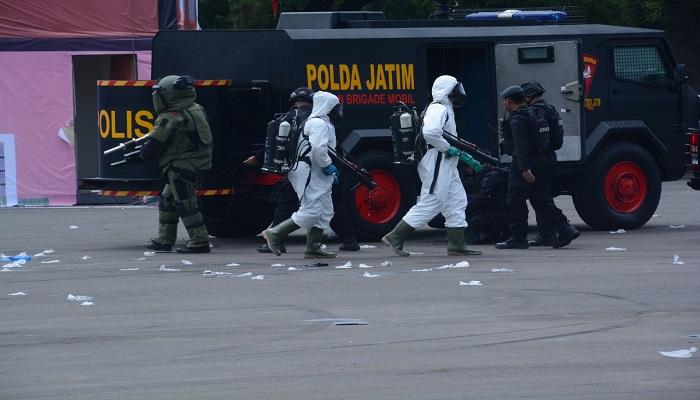 Barracuda Brigade Mobile (Brimob) Polda Jawa Timur. (Foto: Istimewa)