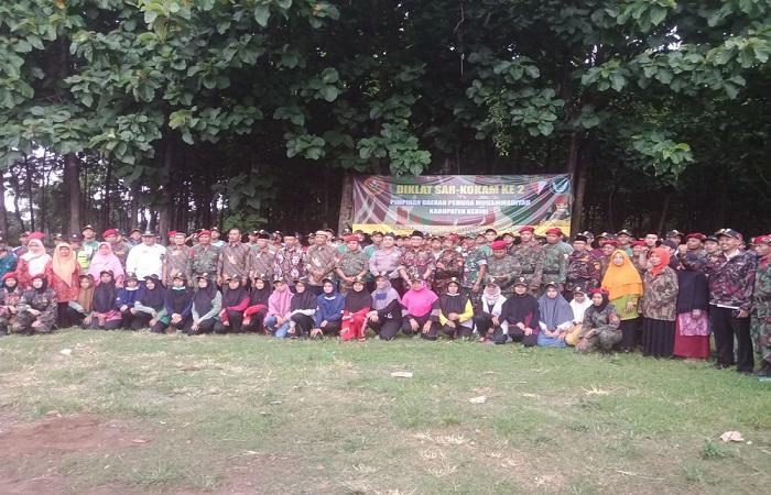 Diklat Kokam SAR pimpinan daerah Pemuda Muhammadiyah Kabupaten Kediri. (Foto: Istimewa)