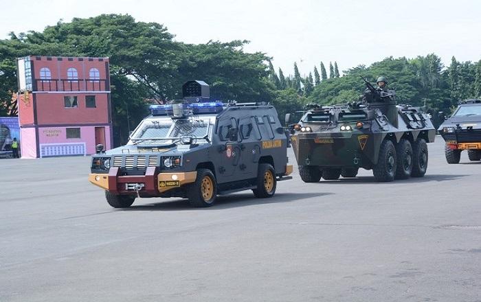 Barracuda dan Panser dilibatkan dalam kegiatan Sispamkota. (Foto: Istimewa)