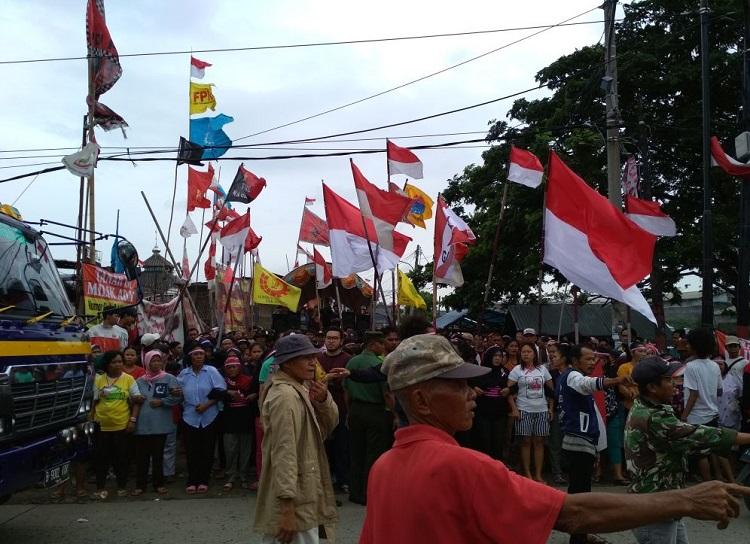 Aksi tolak penggusuran warga Kapuk Poglar (Foto Istimewa)