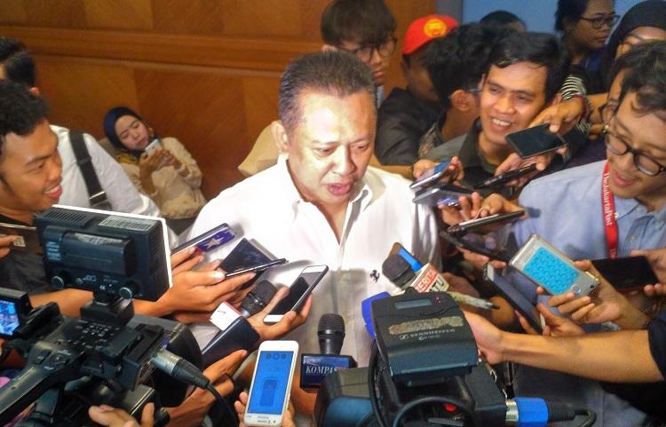 Ketua DPR RI Bambang Soesatyo (Foto Nusantaranews.co/Romandhon)