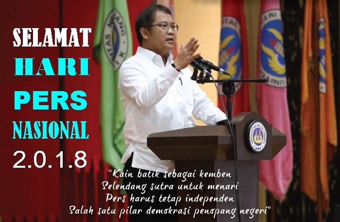 Selamat Hari Pers Nasional 2018. Foto Latar: Kemkominfo/ NusantaraNews
