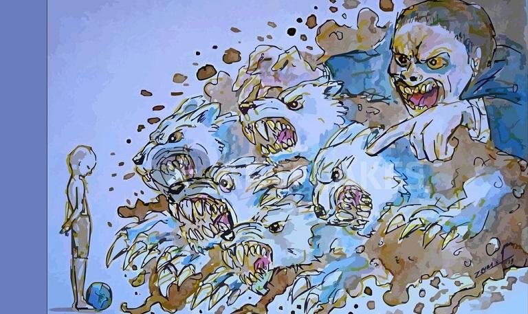 Dinasti Koruptor. Ilustrasi Foto: ARTFLAKES.COM