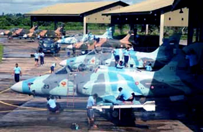 Pesawat Tempur Hawk TNI AU/Foto: Garuda Militer