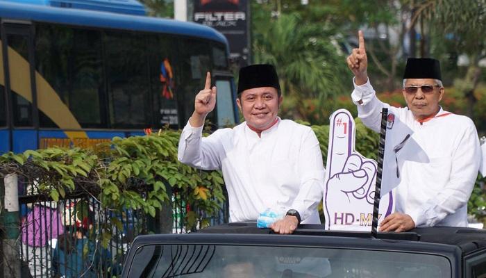Pasangan Herman Deru-Mawardi Yahya mendapatkan nomor urut 1 dalam pengundian di Hotel Novotel Palembang, Selasa (13/2). (Foto: Dok. Istimewa)