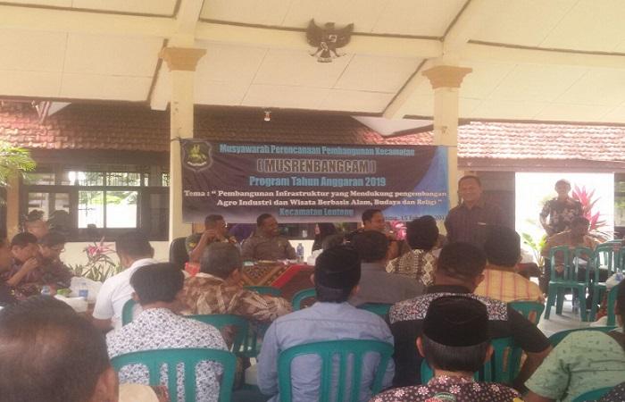 Musyawarah Perencanaan dan Pembangunan Tingkat Kecamatan (Musrenbangcam) Pemerintah Kecamatan Lenteng Sumenep Madura. (Foto: Hilman Agrari/NusantaraNews)