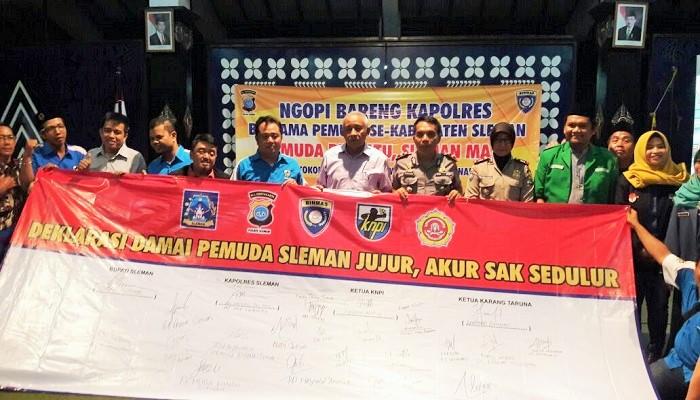 Deklarasi Sleman Damai dilakukan pemuda DIY. (Foto: Istimewa)
