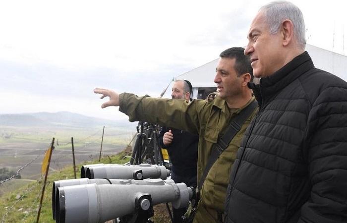 Perdana Menteri Israel, Benjamin Netanyahu melawat ke Dataran Tinggi Golan.
