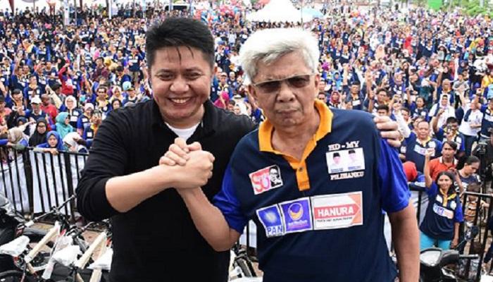 Pasangan calon gubernur dan wakil gubernur Sumatera Selatan, Herman Deru-Mawardi Yahya (HD-MY). Foto: Facebook/HD-MY