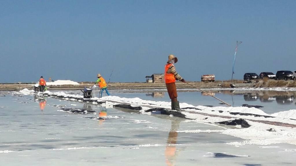 Petani garam Desa Pinggir Papas, Kalianget, Sumenep (Foto Mahdi/Nusantaranews)