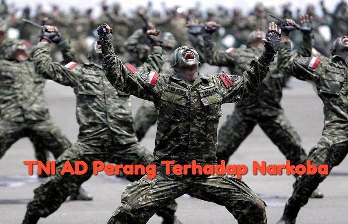 TNI AD terus pukul genderang perang terhadap narkoba. (Foto: Istimewa/Ilustrasi)