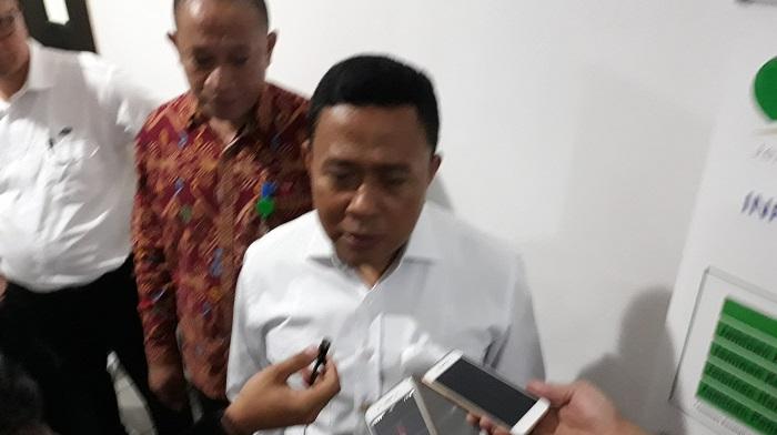 Dewan Pengawas BPJS Ketenagakerjaan, Eko Darwanto, di Universitas Nasional Jakarta, Senin (19/3/2018). (FOTO: NUSANTARANEWS.CO/Ucok Al Ayubbi)