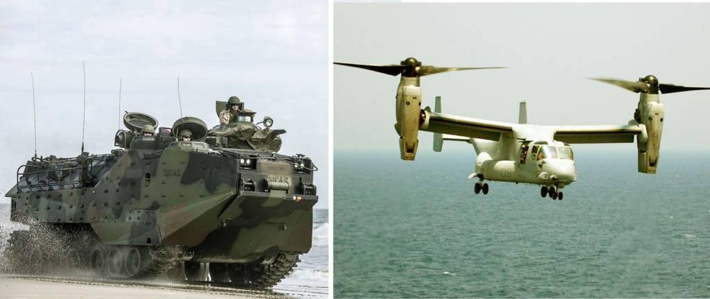 AAV-7 dan V-22 Osprey