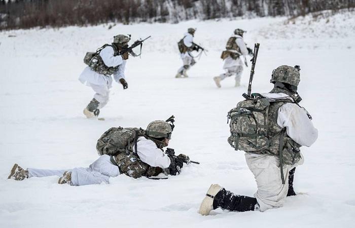 Pasukan Amerika Serikat, Komando Alaska menggelar latihan perang di Arktik pada 12-16 Maret 2018 lalu. (Foto: Facebook/NORAD and USNORTHERN Command)