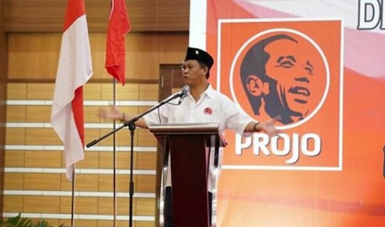 Cawagub Anton Charliyan di depan Projo (Foto Istimewa/Nusantaranews.co)