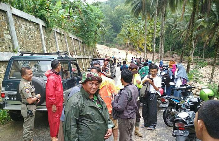 Lokasi banjir dan tanah longsor di Desa Karanggede, Kecamatan Arjosari, Pacitan. (Foto: Istimewa)
