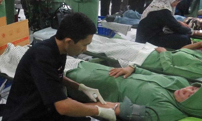 Donor Darah Hut Persit (Foto Istimewa)