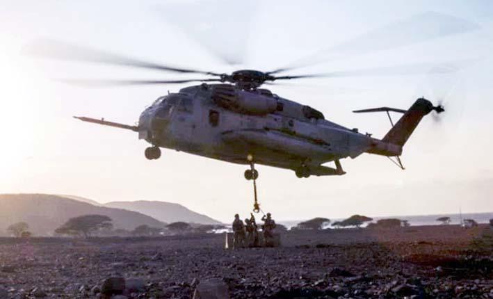 Helikopter AS sedang melakukan operasi untuk mengevakuasi pemimpin ISIS di provinsi Deir Ezzor.