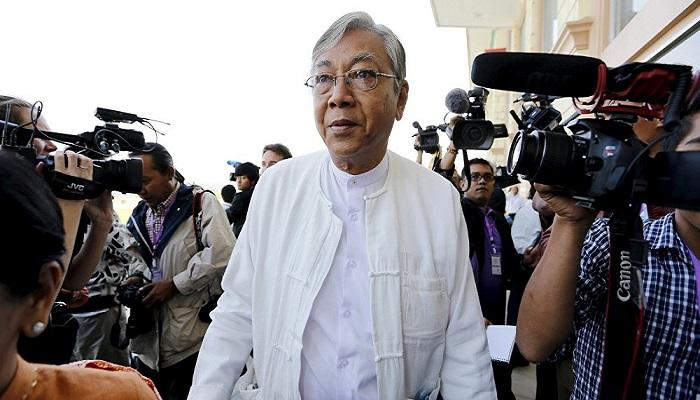 Presiden Myanmar, Htin Kyaw. (Foto: REUTERS/Soe Zeya)
