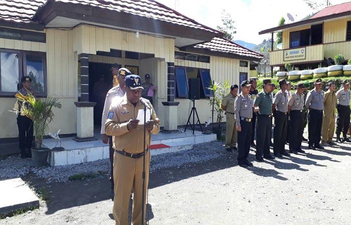 Bupati Tolikara Usman G Wanimbo mendukung Polres Tolikara melaksanakan operasi keselamatan tahun 2018.