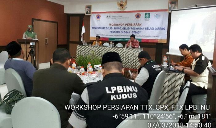 Workshop Persiapan Gladi Ruang dan Gladi Posko Program Slogan-Steady LPBI NU. (FOTO: NUSANTARANEWS.CO/HUmas LPBI NU)