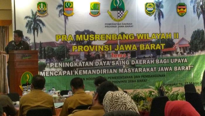 Peserta Giat Pra Musrembang se-wilayah II Jabar di hotel Plaza, Purwakarta, Jabar, Selasa (27/3/2018). (FOTO: NUSANTARANEWS.CO/Fuljo)