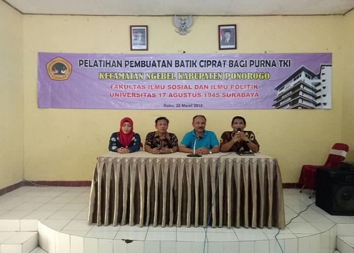 Fakultas Ilmu Sosial dan Ilmu Politik (FISIP) Universitas 17 Agustus 1945 (UNTAG) Surabaya peduli dengan perkembangan Ponorogo. (Foto: Muh Nurcholis/NusantaraNews)