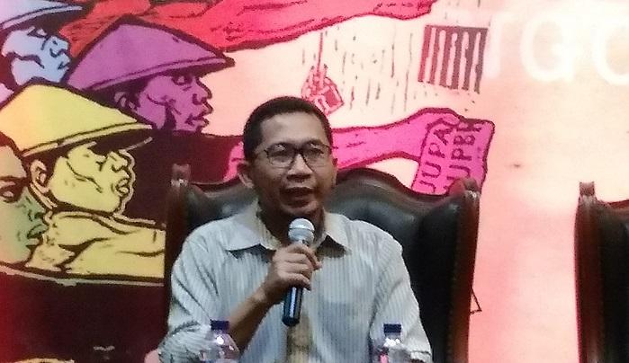 Peneliti Asosiasi Ekonomi Politik Indonesia (AEPI), Salamuddin Daeng. (FOTO: NUSANTARANEWS.CO/Achmad S)